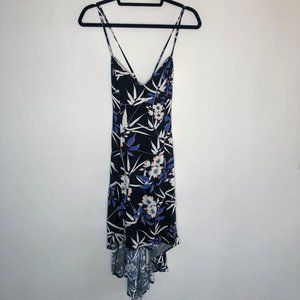 NWT MINKPINK Black Strappy Floral High Low Dress